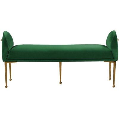 Stovall Upholstered Bench Upholstery: Green