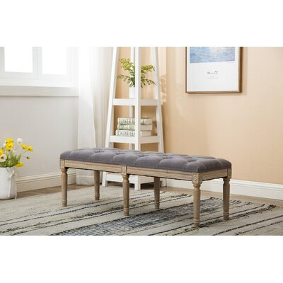 Lurmont Bedroom Upholstered Bench Upholstery: Gray