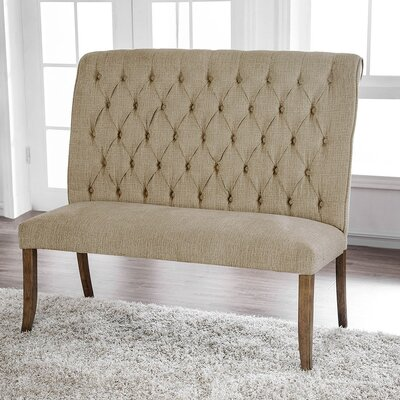 Emilia Chenille Counter Height Upholstered Bench