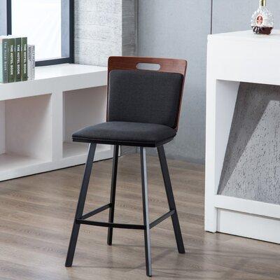 """Nadia 26"""" Bar Stool Upholstery: Dark Gray"""