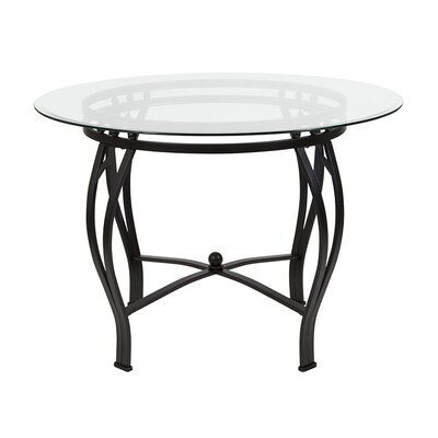 "Velasquez Counter Height Dining Table Size: 29.5"" H x 48"" L x 48"" W, Base Color: Black"