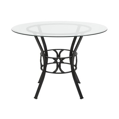 "Velasco Counter Height Dining Table Size: 29.5"" H x 45"" L x 45"" W, Base Color: Black"