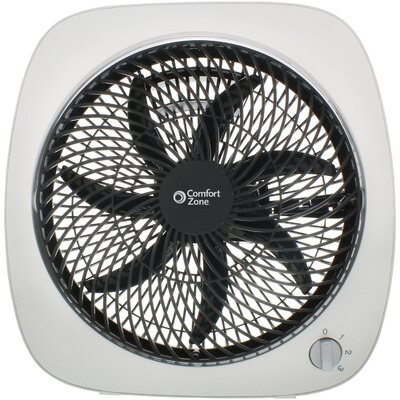 "Square Turbo 10"" Table Fan Finish: White/Black"