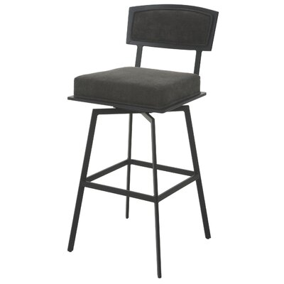 "Cyr 28"" Swivel Bar Stool Color: Dark Gray"