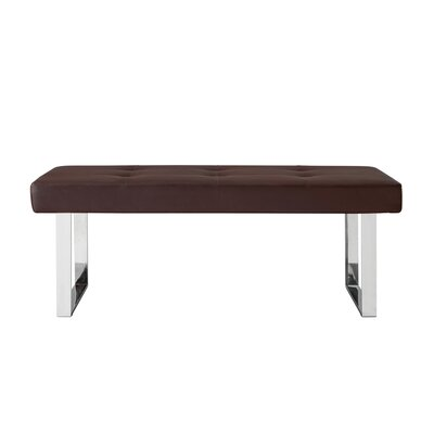 Lord Faux Leather Bench Color: Brown