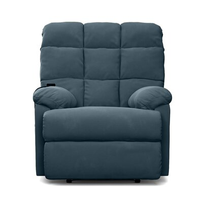 Odysseus Power and Lift Wall Hugger Recliner Color: Deep Blue