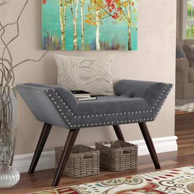 Sharonville Upholstered Bench Color: Gray