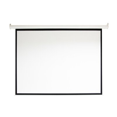 Motorized Drop Down White Electric Projection Screen Viewing Area: 100""