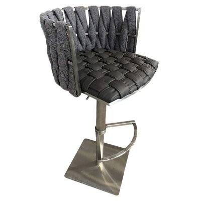 "Doory 35"" Swivel Bar Stool Color: Black Lava"