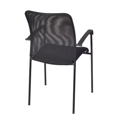 """72"""" L Lars Training Table with Stack Chairs Base Finish: Black, Tabletop Finish: Cherry"""