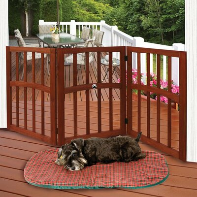 Iron Folding Stand Alone Pet Dog Gate