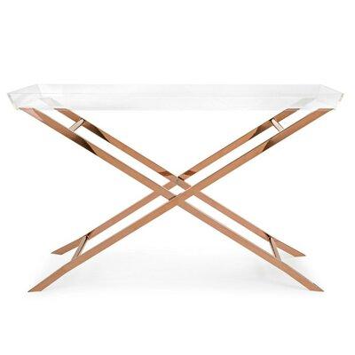 Fratessa Acrylic Tray Console Table
