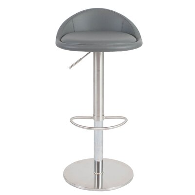 Mcgee Adjustable Height Swivel Bar Stool Upholstery: Gray