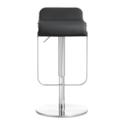 Serenity Adjustable Height Swivel Bar Stool Upholstery: Black
