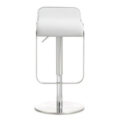 Serenity Adjustable Height Swivel Bar Stool Upholstery: White