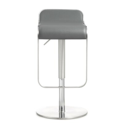 Serenity Adjustable Height Swivel Bar Stool Upholstery: Gray