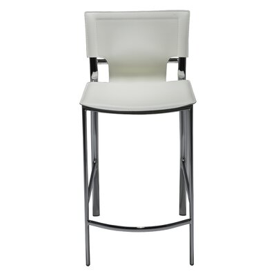 "Hayley 26"" Bar Stool (Set of 2) Upholstery: White"