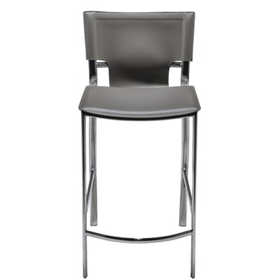 "Hayley 26"" Bar Stool (Set of 2) Upholstery: Gray"