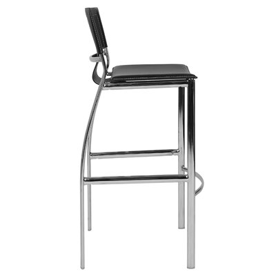 "Hayley 30"" Bar Stool (Set of 2) Upholstery: Black"