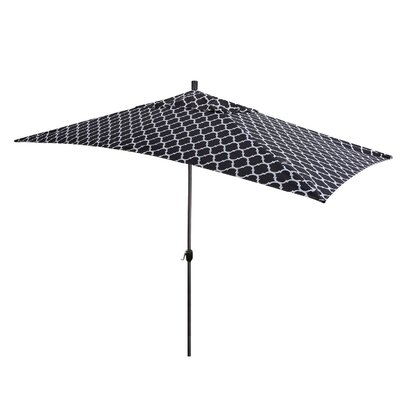 Sherlyn 10' x 6' Rectangular Market Umbrella Fabric Color: Black