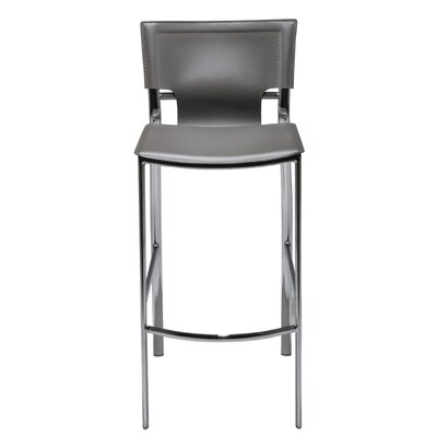"Hayley 30"" Bar Stool (Set of 2) Upholstery: Gray"