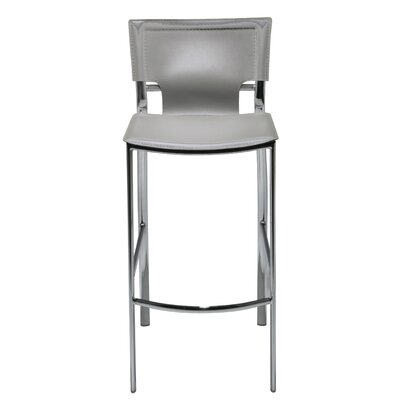 "Hayley 30"" Bar Stool (Set of 2) Upholstery: Light Gray"