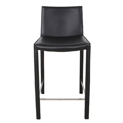 "Brompton 26"" Bar Stool (Set of 2) Upholstery: Black"