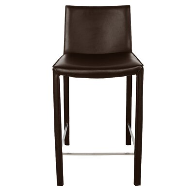 "Brompton 26"" Bar Stool (Set of 2) Upholstery: Wenge"