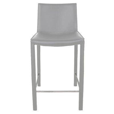 "Brompton 26"" Bar Stool (Set of 2) Upholstery: Light Gray"