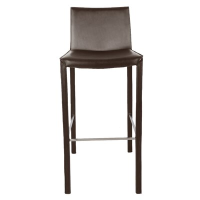 "Brompton 30"" Bar Stool (Set of 2) Upholstery: Wenge"