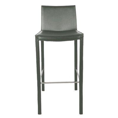 "Brompton 30"" Bar Stool (Set of 2) Upholstery: Gray"