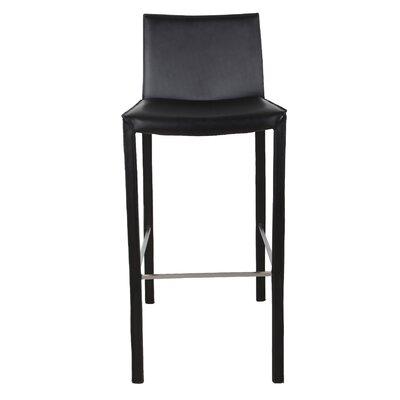 "Brompton 30"" Bar Stool (Set of 2) Upholstery: Black"