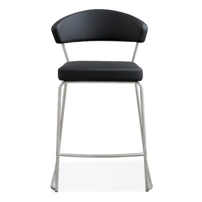"Mcghee 26"" Bar Stool Upholstery: Black"