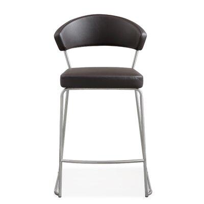 "Mcghee 26"" Bar Stool Upholstery: Brown"