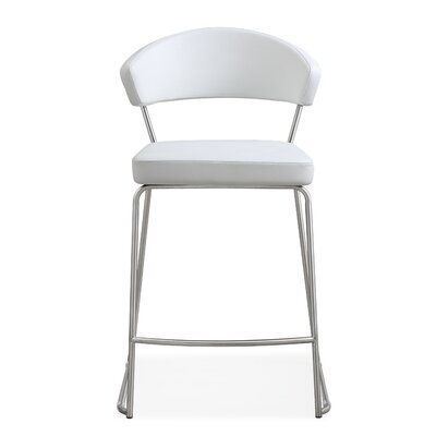 "Mcghee 26"" Bar Stool Upholstery: White"