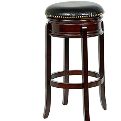 "Magdaleno 34"" Swivel Bar Stool Base Color: Cappuccino"