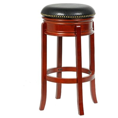 "Magdaleno 34"" Swivel Bar Stool Base Color: Cherry"