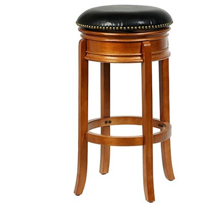 "Magdaleno 34"" Swivel Bar Stool Base Color: Oak"