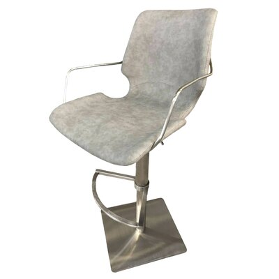 "Alfonso 30"" Swivel Bar Stool Size: 47"" H x 22"" W x 21"" D, Seat Color: Moonstone"