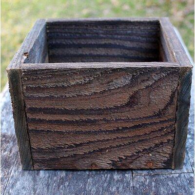 "Alaska Square New Cedar Planters Box Finish: Natural Gray, Size: 8"""