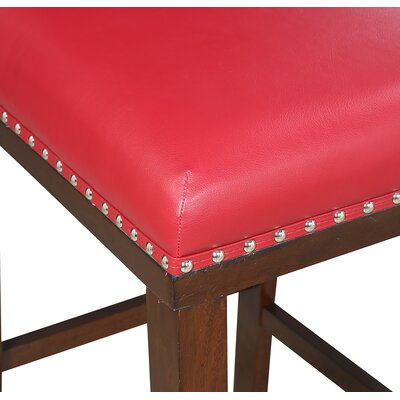"Millwright 30"" Bar Stool (Set of 2) Color: Red"