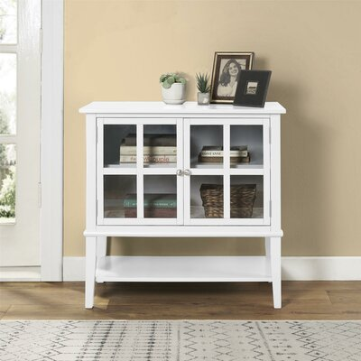 Dmitry 2 Door Accent Cabinet Color: White