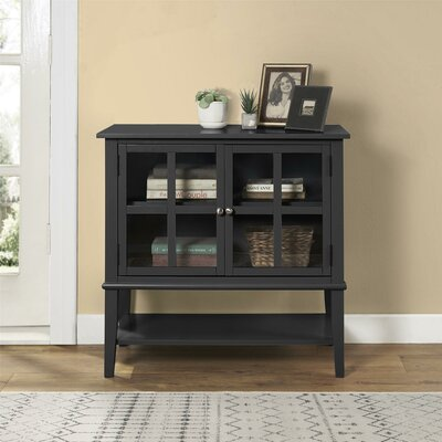 Dmitry 2 Door Accent Cabinet Color: Black
