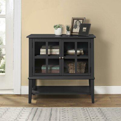 Dmitry 2 Door Accent Cabinet Color: Black