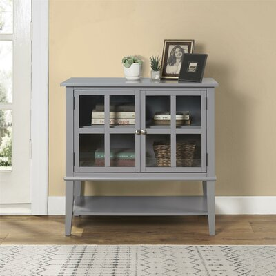 Dmitry 2 Door Accent Cabinet Color: Gray