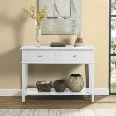 Dmitry Console Table Color: White
