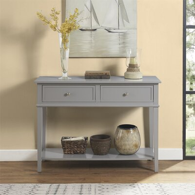 Dmitry Console Table Color: Gray