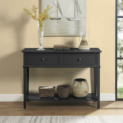Dmitry Console Table Color: Black