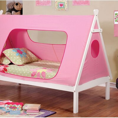 Saylor Twin Bed Bed Frame Color: Pink/White