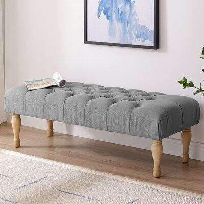 Huang Upholstered Bench Upholstery: Gray